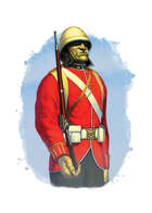 Filler spot colour - character: troll red coat - RPG Stock Art