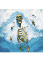 Colour card art - character: skeleton frozen - RPG Stock Art