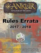Ankur Rules Errata 2017