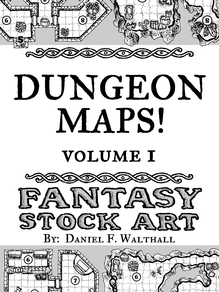 Dungeon Maps! Fantasy Stock Art