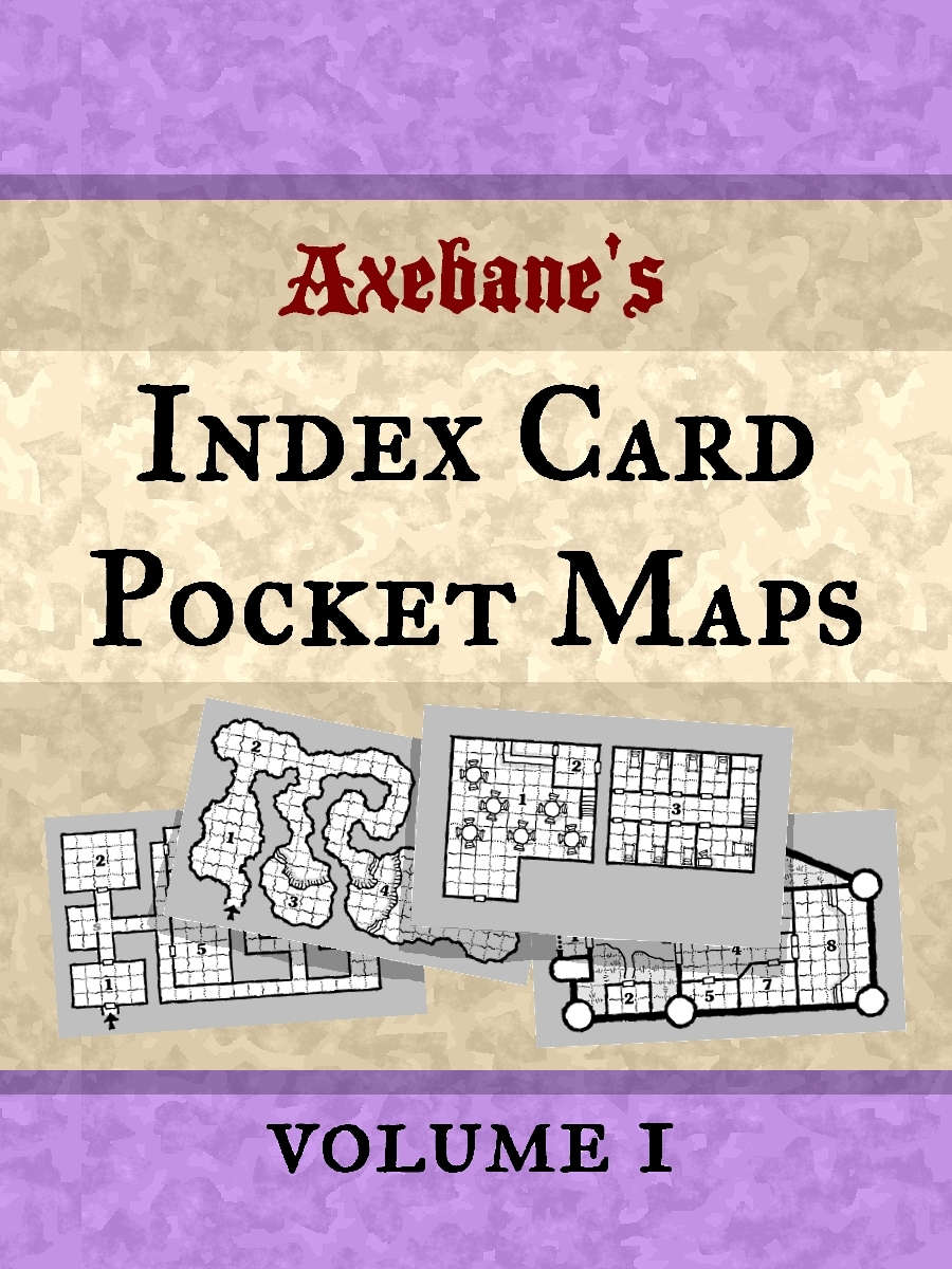 Axebanes Index Card Pocket Maps