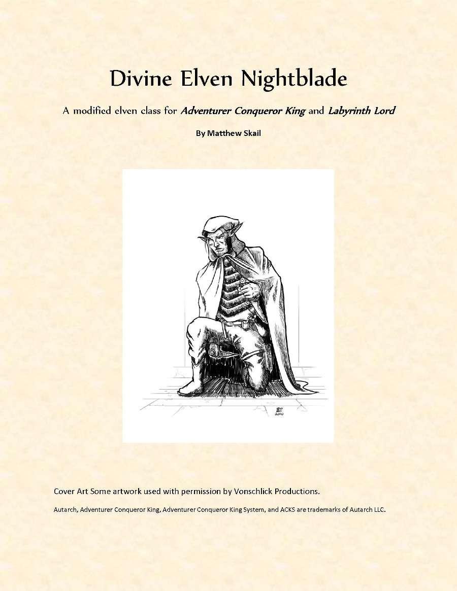 Divine Elven Nightblade Dys Games Rpgnow Com