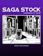 Saga Stock (Cyberpunk City Scene)