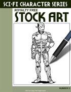 Sci-Fi Character Stock Art #2