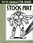 Sci-Fi Character Stock Art #3
