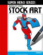 Super Hero Stock Art #1