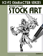 Sci-Fi Character Stock Art #6