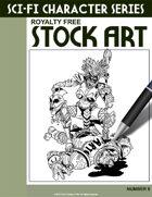 Sci-Fi Character Stock Art #8