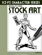 Sci-Fi Character Stock Art #9