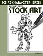 Sci-Fi Character Stock Art #11