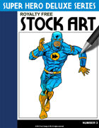 Deluxe Super Hero Stock Art #3