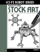 Sci-Fi Robot Stock Art #1
