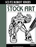 Sci-Fi Robot Stock Art #3