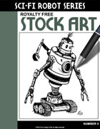 Sci-Fi Robot Stock Art #4