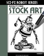 Sci-Fi Robot Stock Art #4