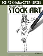 Sci-Fi Character Stock Art #14