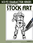 Sci-Fi Character Stock Art #16