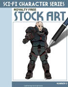Sci-Fi Character Color Stock Art #3