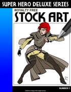 Deluxe Super Hero Stock Art #1