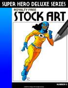 Deluxe Super Hero Stock Art #2