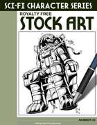 Sci-Fi Character Stock Art #22