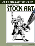 Sci-Fi Character Stock Art #24