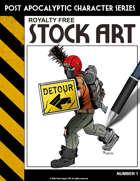 Post Apocalyptic Character Stock Art #1