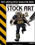 Post Apocalyptic Character Stock Art #3