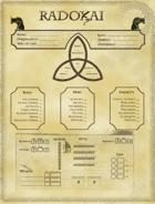 Radokai: The North Interactive Character Sheet
