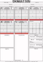 Domains RPG Character Sheet