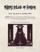 Thirty Rules of Horror