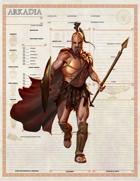 Arkadia Character Sheets - Greek Character Sheets for 5e