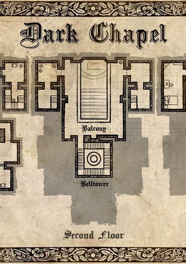 Dark Chapel - Dungeon Map