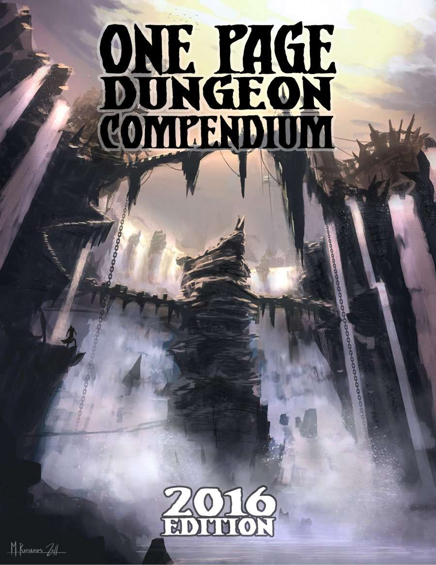 one page dungeon compendium 2016 edition shattered pike studio