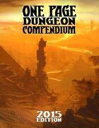One Page Dungeon Compendium 2015