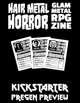 Hair Metal Horror Kickstarter Character Preview