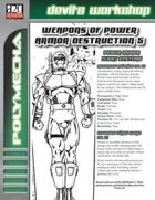 Weapons of Power Armor Destruction 5 (D20 Future)