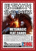 Ultimate Spell Decks: MetaMagic Feat Cards (PFRPG)