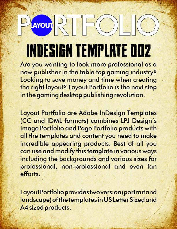 publisher portfolio template