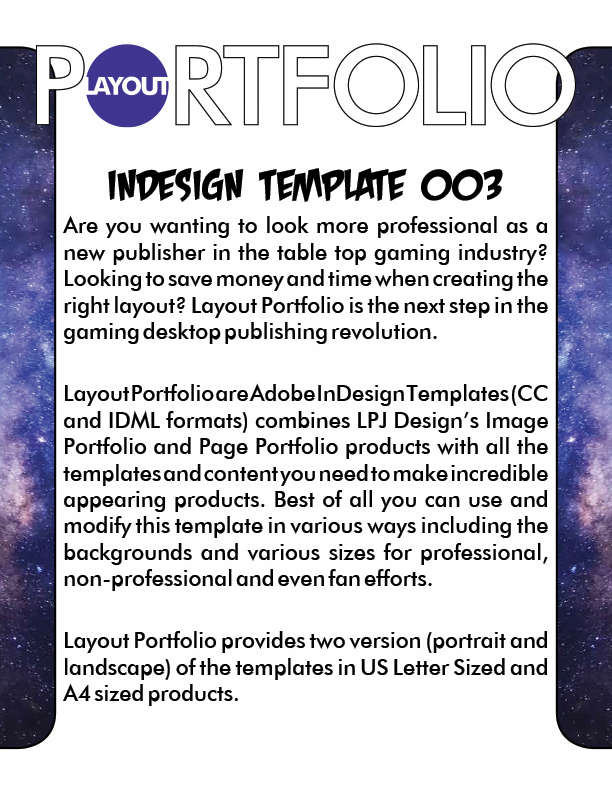Layout Portfolio InDesign Template 003 - LPJ Design | Image ...