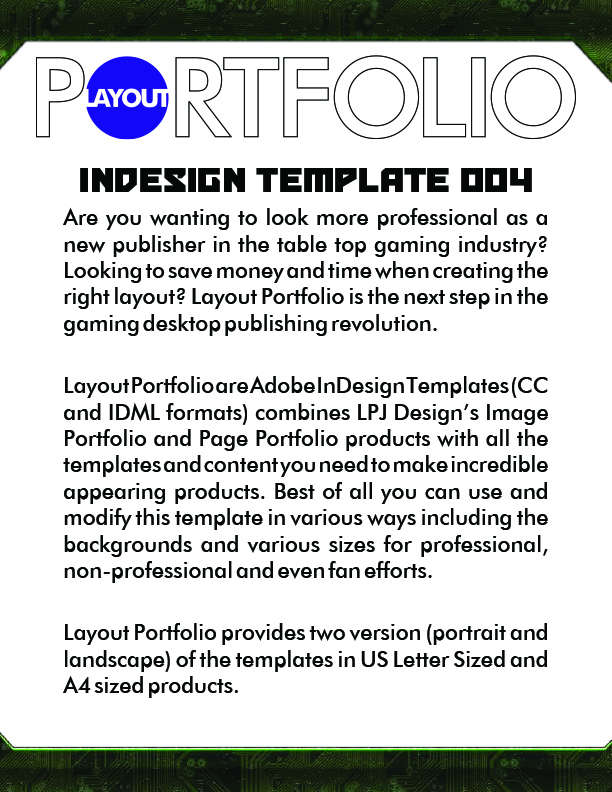 Layout Portfolio InDesign Template 004 - LPJ Design | Image ...