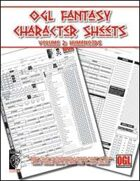 OGL Fantasy Character Sheets Volume 2: Humanoids