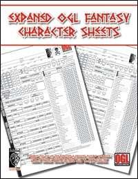 Expanded OGL Fantasy Character Sheet
