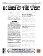 Horses of the West (D20 Modern)