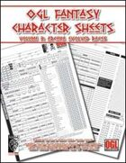 OGL Fantasy Character Sheets Volume 3: Arcana Evolved