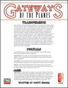Gateways of the Planes (D20 OGL)
