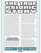 The True Psionic Story: Amulet of Catapsi