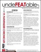 Undefeatable 19: Pathfinder Chronicler (PFRPG)
