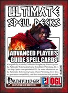 Ultimate Spell Decks: Advanced Player's Guide Spell Cards (PFRPG)