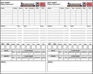 Buff Sheet (PFRPG) - LPJ Design   Pathfinder Roleplaying Game ...